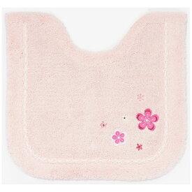 山崎産業 カラースタイル シンフォニ− トイレ足元マット ピンク ピンク 13721