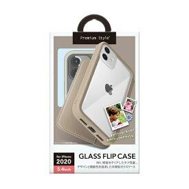 PGA iPhone 12 mini 5.4インチ対応ガラスフリップケース ベージュ Premium Style ベージュ PG-20FGF03BE