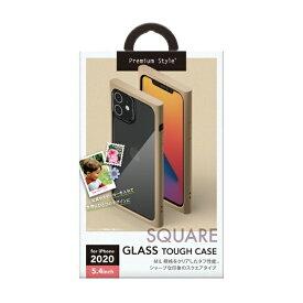PGA iPhone 12 mini 5.4インチ対応ガラスタフケース スクエアタイプ ベージュ Premium Style ベージュ PG-20FGT07BE