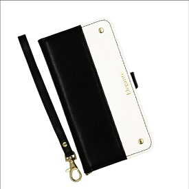 近通 Kintsu iPhone 11対応 手帳型ケース エレガンテ ツートン ブラック・ホワイト EL-IP11-08BW