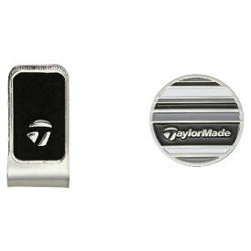テーラーメイドゴルフ Taylor Made Golf ゴルフマーカー キャップボールマーカーKY352(ブラック×ホワイト×グレー)