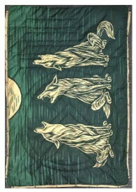 VOITED アウトドアブラケット CLOUDTOUCH PILLOW BLANKET(137×203cm(解放時)/Among Wolves)7VTDCLT