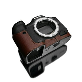 GARIZ ゲリズ Canon EOS R5/R6 兼用 本革カメラケース ブラウン XS-CHEOSR5BR