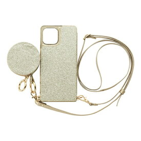 CCCフロンティア CCC FRONTIER iPhone 12/12 Pro 6.1インチ対応 ケース Cross Body Case Glitter Series ゴールド ML-CSIP20L-2CBPG