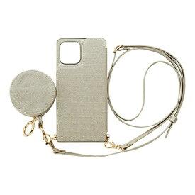 CCCフロンティア CCC FRONTIER iPhone 12/12 Pro 6.1インチ対応 ケース Cross Body Case Glitter Series シルバー ML-CSIP20L-2CBPS