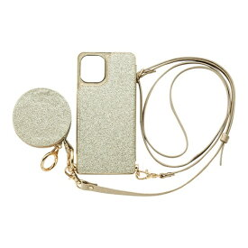 CCCフロンティア CCC FRONTIER iPhone 12 mini 5.4インチ対応 ケース Cross Body Case Glitter Series ゴールド ML-CSIP20M-2CBPG
