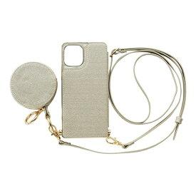 CCCフロンティア CCC FRONTIER iPhone 12 mini 5.4インチ対応 ケース Cross Body Case Glitter Series シルバー ML-CSIP20M-2CBPS