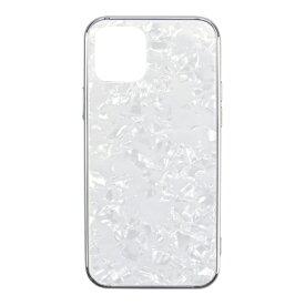 CCCフロンティア CCC FRONTIER iPhone 12/12 Pro 6.1インチ対応 ケース Glass Shell Case ホワイト UNI-CSIP20L-0GSWH