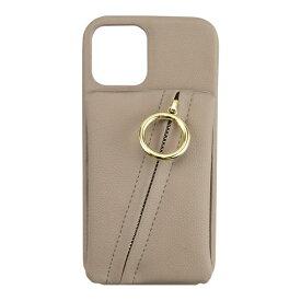 CCCフロンティア CCC FRONTIER iPhone 12/12 Pro 6.1インチ対応 ケース Clutch Ring Case ベージュ ML-CSIP20L-2CRBE
