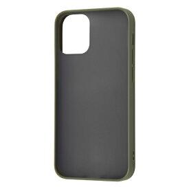 レイアウト rayout iPhone 12 mini 5.4インチ対応 耐衝撃マットハイブリッド Sarafit カーキ RT-P26BS3/G