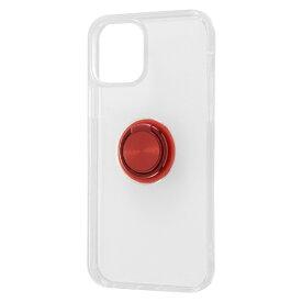 レイアウト rayout iPhone 12/12 Pro 6.1インチ対応 TPUソフト リング付 レッド RT-P27TC30/RM
