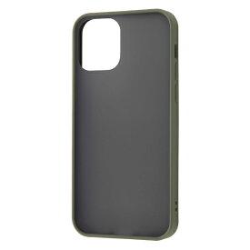 レイアウト rayout iPhone 12/12 Pro 6.1インチ対応 耐衝撃マットハイブリッド Sarafit カーキ RT-P27BS3/G