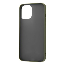 レイアウト rayout iPhone 12 Pro Max 6.7インチ対応耐衝撃マットハイブリッド Sarafit カーキ RT-P28BS3/G