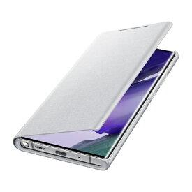 SAMSUNG サムスン 【サムスン純正】Galaxy Note20 Ultra LED VIEW COVER ホワイトシルバー EF-NN985PSEGJP