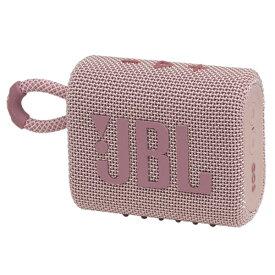 JBL ジェイビーエル ブルートゥース スピーカー ピンク JBLGO3PINK [Bluetooth対応 /防水]