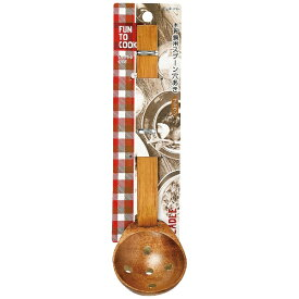パール金属 PEARL METAL ファントゥクック 木製鍋用スプーン穴あき(ブラウン) B-1725