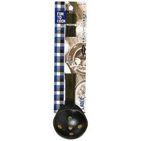 パール金属 PEARL METAL ファントゥクック 木製鍋用スプーン穴あき(ブラック) B-1730