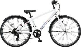 ブリヂストン BRIDGESTONE 26型 子供用自転車 シュライン(P.Xオーロラホワイト/外装7段変速) SHL61【2021年モデル】【組立商品につき返品不可】 【代金引換配送不可】