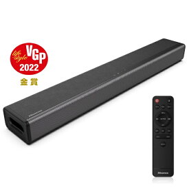 ハイセンス Hisense ホームシアター (サウンドバー) ブラック HS214 [2.1ch /Bluetooth対応][サウンドバー テレビ スピーカー]
