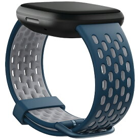 Fitbit フィットビット Versa 3/Sense 交換用スポーツバンド Sサイズ サファイア/フォググレー FB174SBNVGYS