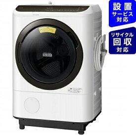 日立 HITACHI ドラム式洗濯機 ビッグドラム ホワイト BD-NBK120FL-W [洗濯12.0kg /乾燥7.0kg /ヒーター乾燥 /左開き][ドラム式 洗濯機 12kg]【point_rb】