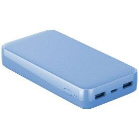 LAZOS ラソス Type-Cポート搭載 QC/PD対応 20000mAh 高速充電リチウムポリマーモバイルバッテリー ライトブルー L-20M-BL [20000mAh /3ポート /USB Power Delivery対応 /マルチタイプ /充電タイプ]