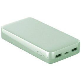 LAZOS ラソス Type-Cポート搭載 QC/PD対応 20000mAh 高速充電リチウムポリマーモバイルバッテリー ライトグリーン L-20M-GRN [20000mAh /3ポート /USB Power Delivery対応 /マルチタイプ /充電タイプ]