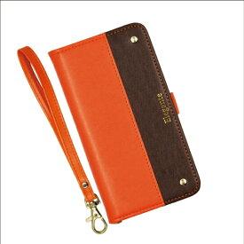 近通 Kintsu エレガンテ ツートン iPhone 11 Pro対応 手帳型ケース オレンジ・ブラウン オレンジ・ブラウン EL-IP11P04OB