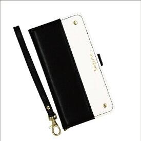 近通 Kintsu エレガンテ ツートン iPhone 11 Pro対応 手帳型ケース ブラック・ホワイト ブラック・ホワイト EL-IP11P08BW