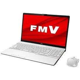 富士通 FUJITSU ノートパソコン LIFEBOOKAH53/E3 プレミアムホワイト FMVA53E3W [15.6型 /intel Core i7 /SSD:512GB /メモリ:8GB /2020年冬モデル]【rb_winupg】