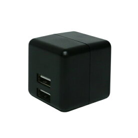 ミヨシ MIYOSHI スマホ用USB充電コンセントアダプタ 2.4Aタイプ 自動出力制御機能付 ブラック IPA-US02/BK [2ポート]