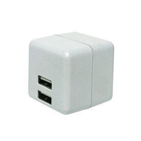 ミヨシ MIYOSHI スマホ用USB充電コンセントアダプタ 2.4Aタイプ 自動出力制御機能付 ホワイト IPA-US02/WH [2ポート]
