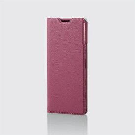 エレコム ELECOM Xperia 5 II レザーケース 手帳型 UltraSlim Flowers 薄型 磁石付き ディープピンク PM-X203PLFUJPND