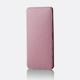 エレコム ELECOM Xperia 5 II レザーケース 手帳型 NEUTZ 磁石付き ピンク PM-X203PLFY2PN
