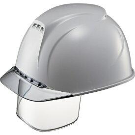 谷沢製作所 TANIZAWA SEISAKUSHO タニザワ エアライト搭載ヘルメット(透明バイザータイプ・溝付・通気孔付・ワイドシールド付) 透明バイザー: グレー/帽体色: グレー 1830VJ-SE-V2-GR5-J
