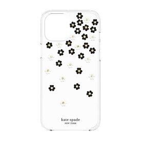 ケイト・スペード ニューヨーク kate spade new york iPhone 12 Pro Max 6.7インチ対応KSNY Protective Hardshell Case BK/WH KSIPH-154-SFLBW