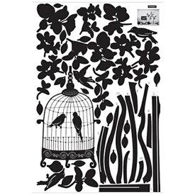 パール金属 PEARL METAL ウォールステッカー Birdcage of the night(バードゲージオブザナイト) AY904 N-8361