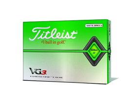 タイトリスト ゴルフボール VG3 2020年モデル グリーン T3426S-3P [3球(1スリーブ) /ディスタンス系] 【オウンネーム非対応】