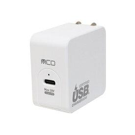 ミヨシ MIYOSHI AC - USB充電器 ノートPC・タブレット対応 65W [1ポート:USB-C /USB Power Delivery対応] IPA-C06G/WH