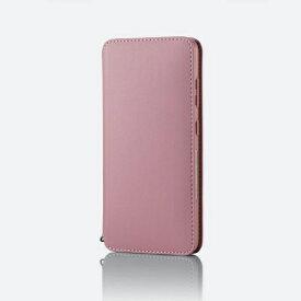 エレコム ELECOM Galaxy A21 レザーケース 手帳型 NEUTZ 磁石付き ピンク PM-G204PLFY2PN
