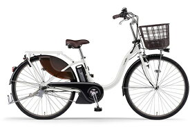 ヤマハ YAMAHA 電動アシスト自転車 PAS With ピュアパールホワイト PA26W [26インチ /3段変速]【2021年モデル】【組立商品につき返品不可】 【代金引換配送不可】