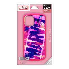 PGA iPhone 12 mini 5.4インチ対応 ガラスタフケース ロゴ/ピンク PG-DGT20F21MVL ロゴ/ピンク