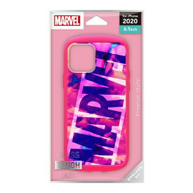 PGA iPhone 12/12 Pro 6.1インチ対応 ガラスタフケース ロゴ/ピンク PG-DGT20G21MVL ロゴ/ピンク