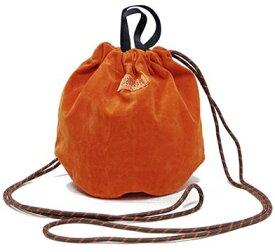 UNIVERSAL OVERALL ユニバーサルオーバーオール Fスエード巾着ポーチ(横幅28.5cm×縦幅23cm×マチ17cm/オレンジ) UVO-051