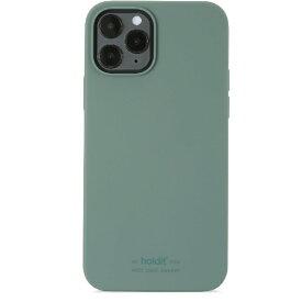 HOLDIT ホールディット iPhone12/12pro用 ソフトタッチシリコーンケース モスグリーン Moss Green