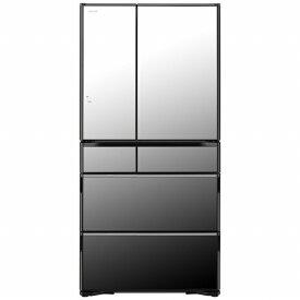 日立 HITACHI 《基本設置料金セット》冷蔵庫 真空チルド VWCタイプ クリスタルミラー R-WXC74N-X [6ドア /観音開きタイプ /735L]【point_rb】
