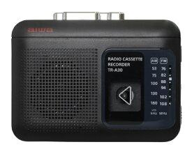 aiwa アイワ ラジオ付きカセットレコーダー ブラック TR-A30B [ラジオ機能付き]