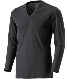 ミズノ mizuno メンズ ゴルフ アンダーウエア ブレスサーモアンダーVネック半袖シャツ(Lサイズ/ブラック)C2JA0610 09