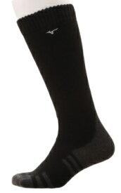 ミズノ mizuno メンズ ゴルフ ソックス ブレスサーモ DX WARMロングソックス(フリーサイズ:25〜27cm/ブラック)52JX0518 09