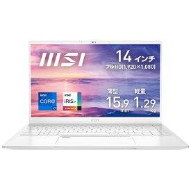 MSI エムエスアイ Prestige-14Evo-A11M-785JP ノートパソコン Prestige 14 Evo ピュアホワイト [14.0型 /intel Core i7 /SSD:512GB /メモリ:16GB /2020年11月モデル]